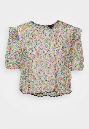 BLOUSE AURELIA - Print T-shirt - black