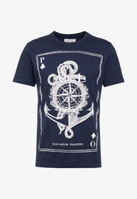 Pier One - Printtipaita - dark blue - 4