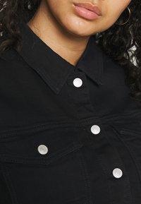 Selected Femme Curve - SLFTENNA JACKET - Denim jacket - black denim - 5