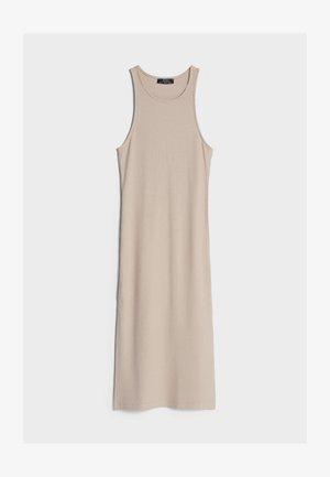 MIT NECKHOLDER  - Pletené šaty - beige