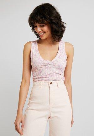 Topper - white/pink