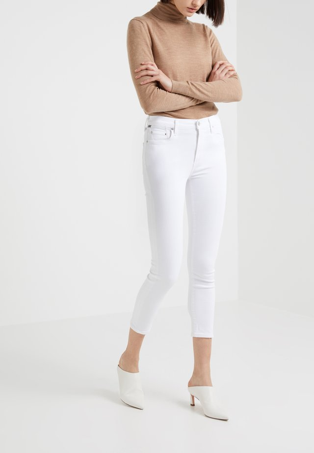 ROCKET CROP - Jeans Skinny - white sculpt