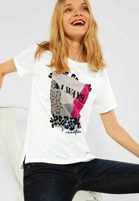 Street One - MIT PART - T-shirt med print - weiß - 2