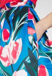 Closet - COLLAR FULL SKIRT DRESS - Vestito elegante - red - 7