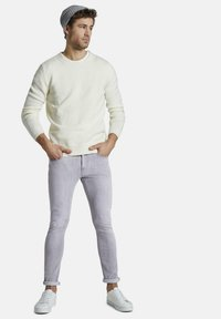 TOM TAILOR - TROY - Slim fit jeans - light stone grey denim - 1