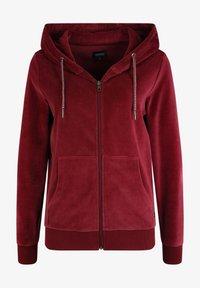 Oxmo - Zip-up hoodie - wine red - 5
