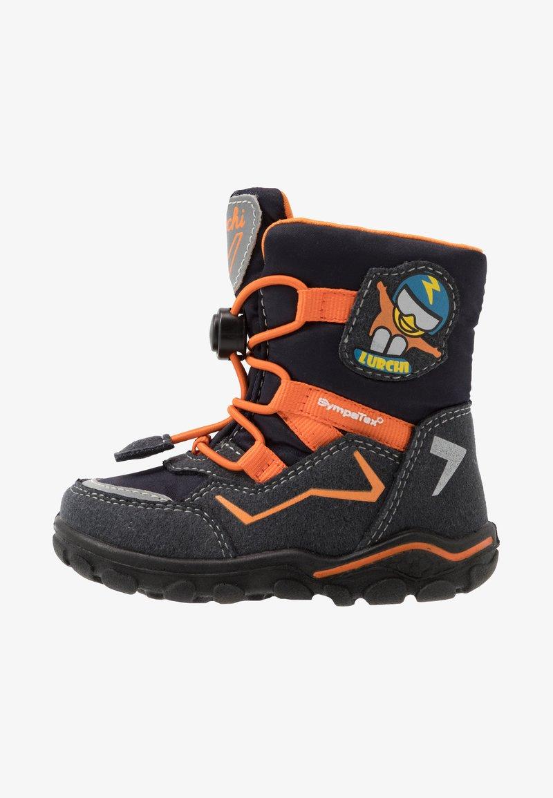 Lurchi - KERO SYMPATEX - Winter boots - atlantic/orange