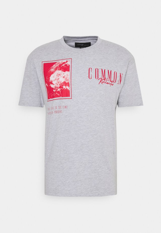 GLOBE UNISEX - T-shirt con stampa - grey marl