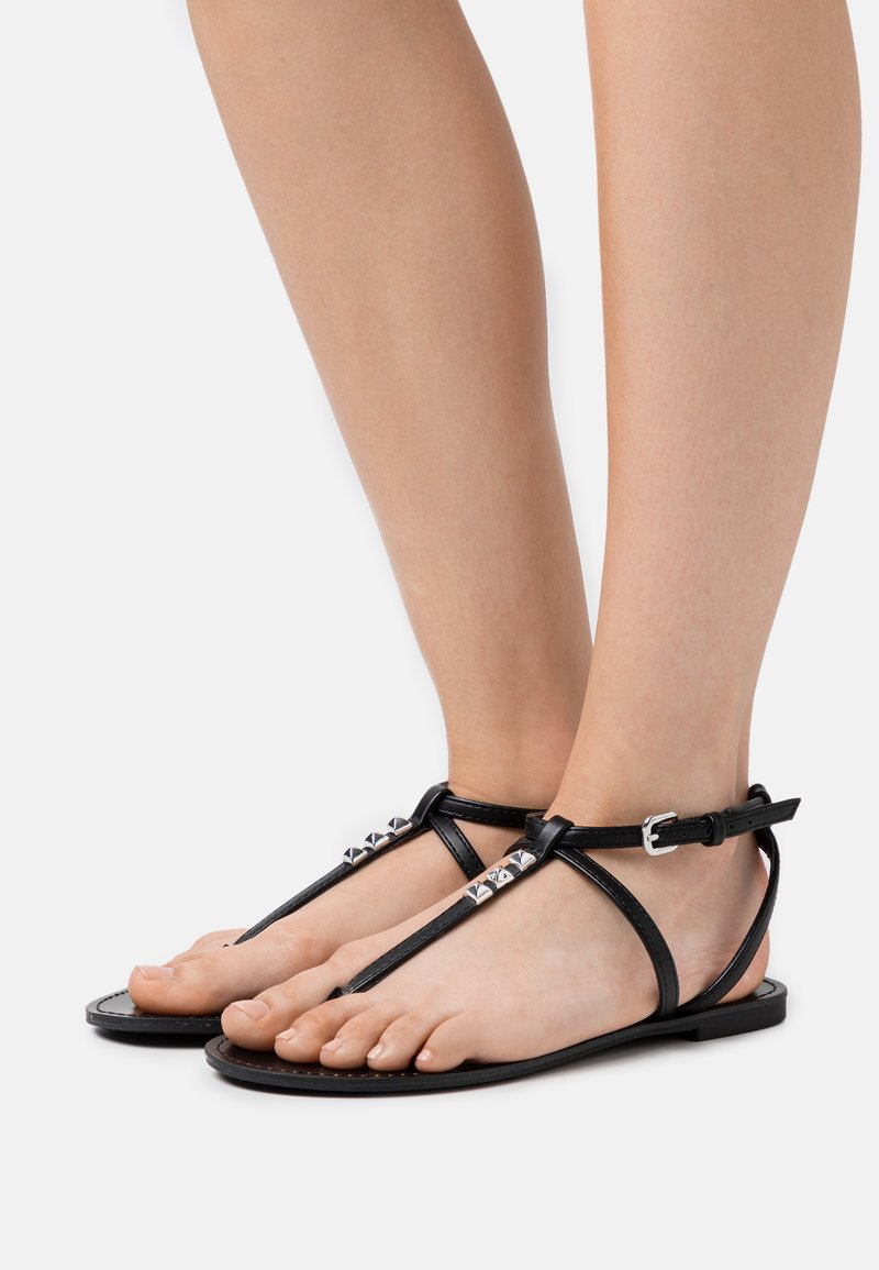 PARFOIS - T-bar sandals - black