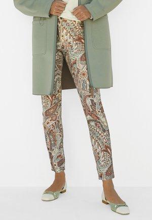 Slim fit jeans - creme multicolor