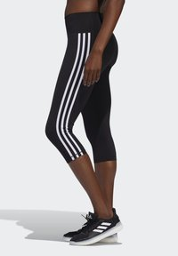 adidas Performance - BELIEVE THIS 3 STRIPES LEGGINGS - 3/4 sportovní kalhoty - black - 2