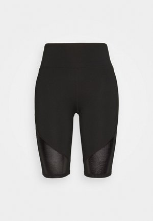 CYCLING SHORTS WITH PANEL CORE - Leggings - black