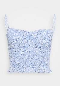 Abercrombie & Fitch - STRAPLESS SMOCKED - Top - blue - 0