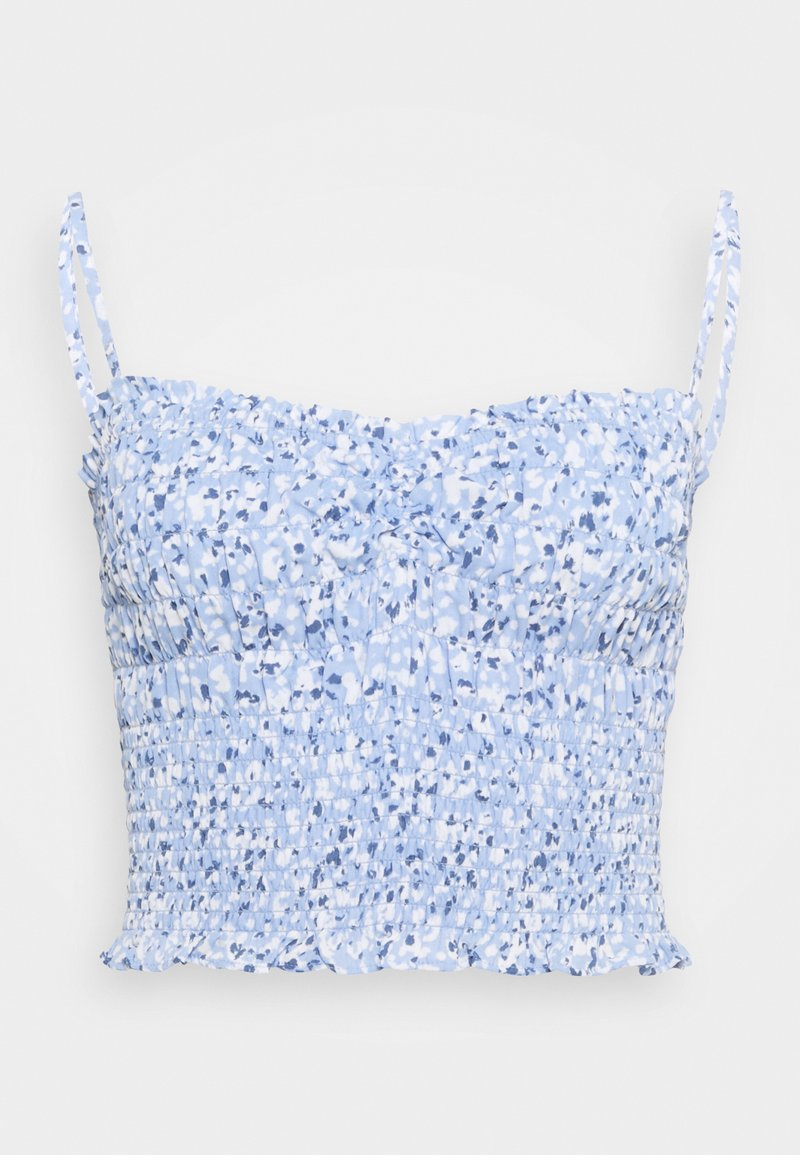 Abercrombie & Fitch - STRAPLESS SMOCKED - Top - blue