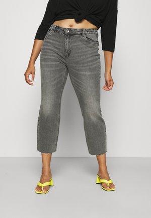 VMBRENDA CUT - Straight leg jeans - medium grey denim