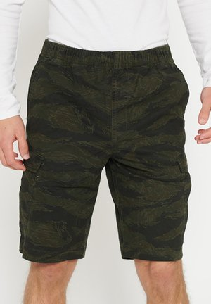 SUPERDRY WORLDWIDE CARGO SHORTS - Cargo trousers - rosin tiger camo