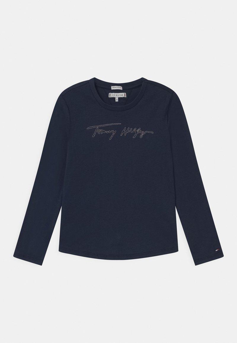 Tommy Hilfiger - GOLD LOGO  - Bluzka z długim rękawem - blue