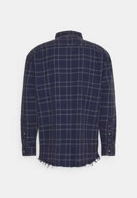 Mennace - DOUBLE POCKET DISTRESSED CHECK UNISEX - Shirt - blue - 1