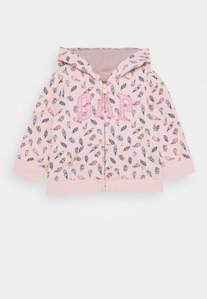 TODDLER GIRL LOGO - veste en sweat zippée - pink