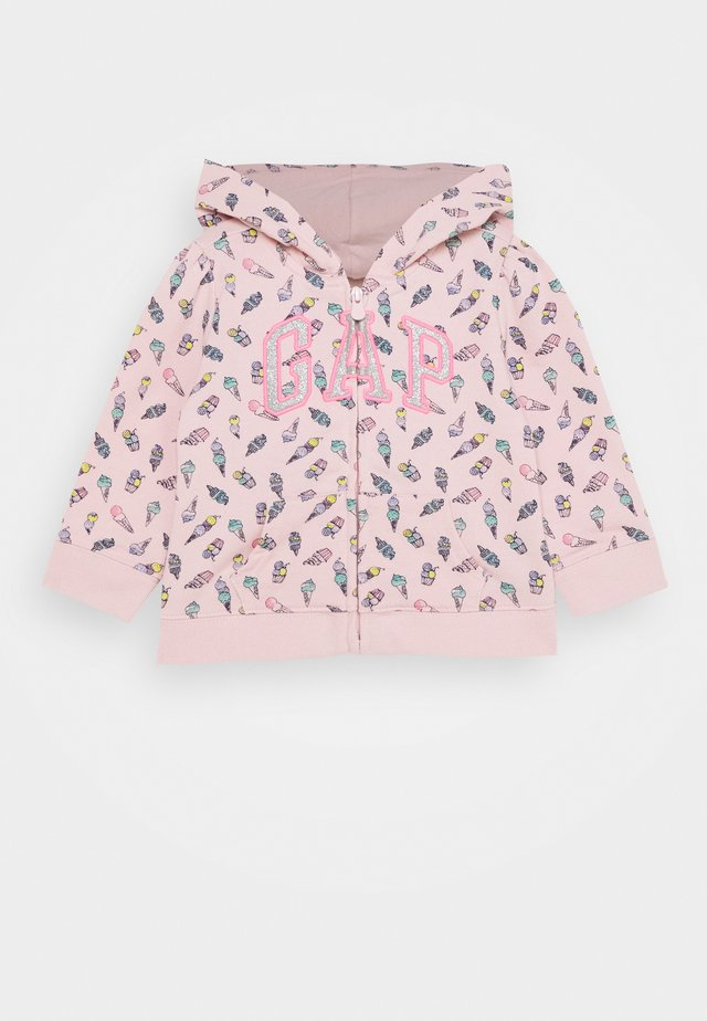 TODDLER GIRL LOGO - Felpa aperta - pink