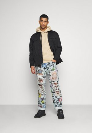 RIPPED GRAFFITI SKATE  - Relaxed fit -farkut - blue
