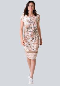 Alba Moda - Jersey dress - rosé,braun - 1
