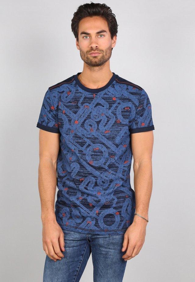 T-shirt med print - navy