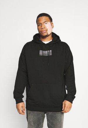 REPEAT SHADOW LOGO HOODIE - Sweatshirt - black