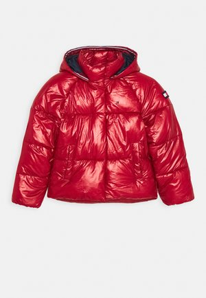METALLIC PUFFER JACKET - Zimní bunda - red