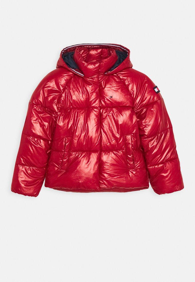 Tommy Hilfiger - METALLIC PUFFER JACKET - Winter jacket - red