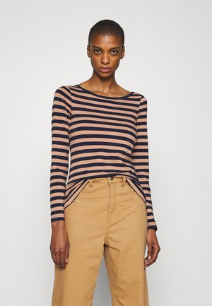 Long sleeved top - camel/dark blue