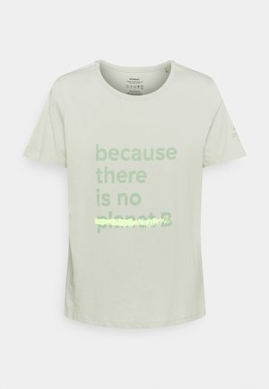 UNDERLINED BACAUSE - Print T-shirt - sage