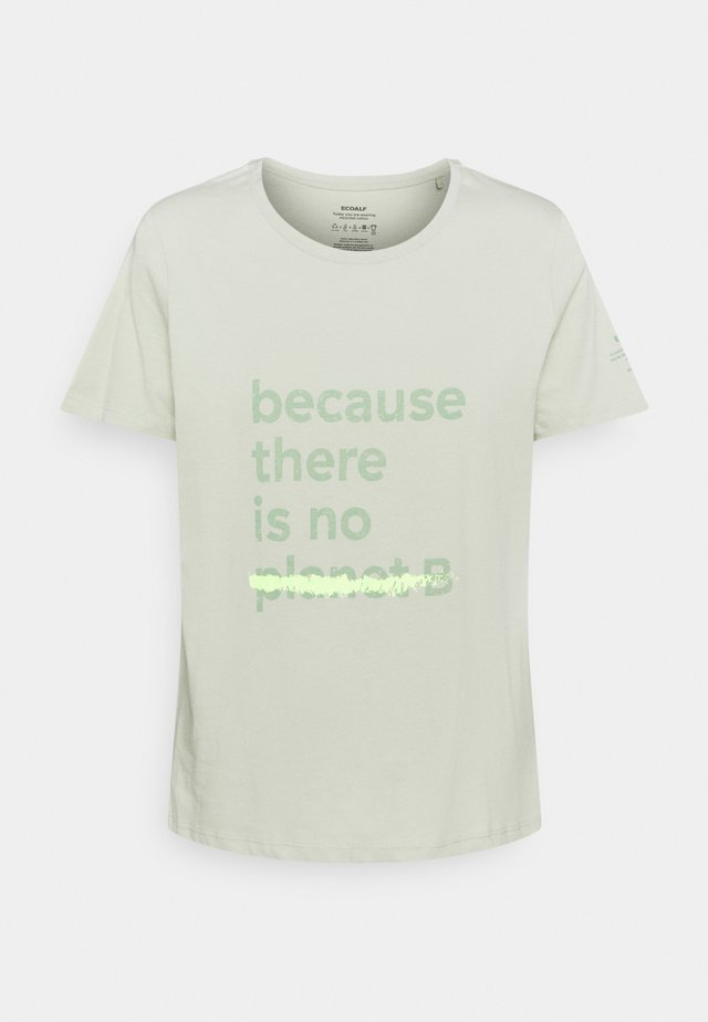 UNDERLINED BACAUSE - Camiseta estampada - sage