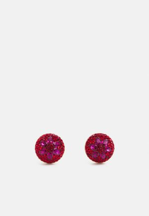 MOTIF DOME STUDS - Earrings - red