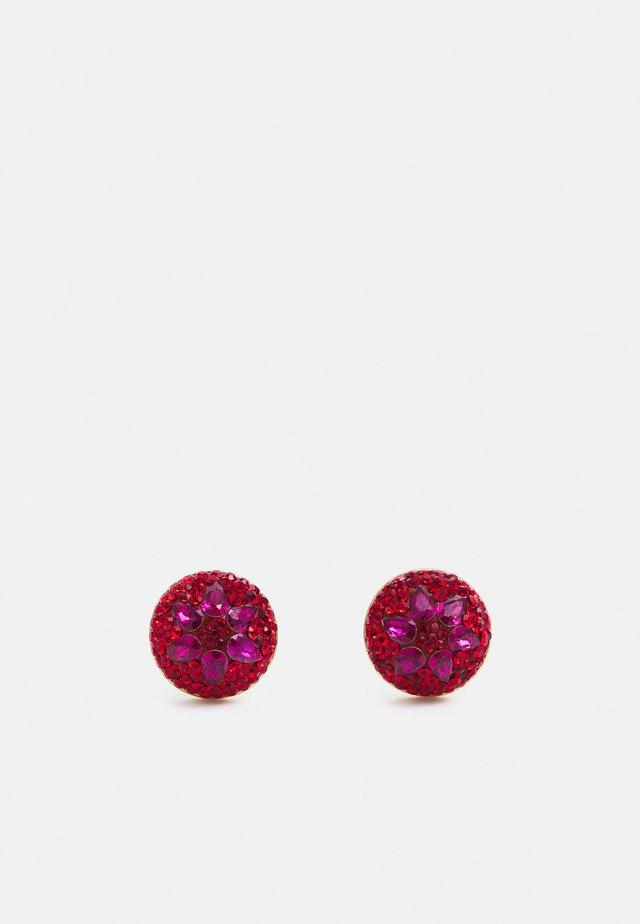 MOTIF DOME STUDS - Örhänge - red