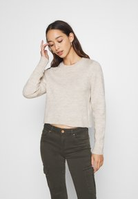 Even&Odd - CROPPED JUMPER - Svetr - beige - 0