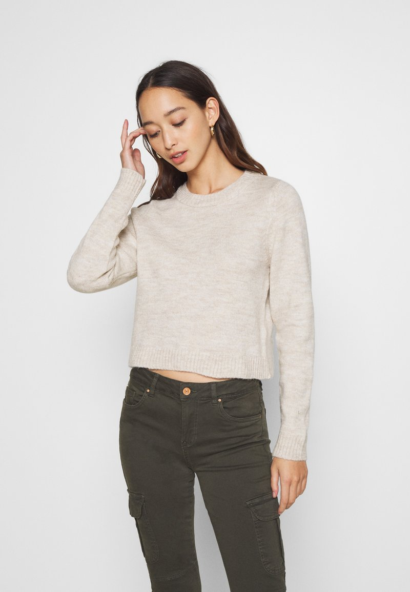 Even&Odd - CROPPED JUMPER - Svetr - beige