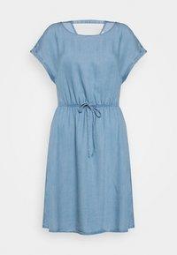 TOM TAILOR DENIM - CHAMBRAY DRESS - Jersey dress - light stone/bright blue denim - 0