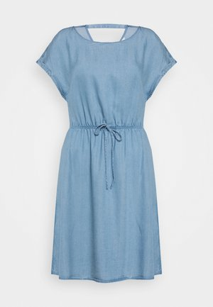 CHAMBRAY DRESS - Žerzejové šaty - light stone/bright blue denim