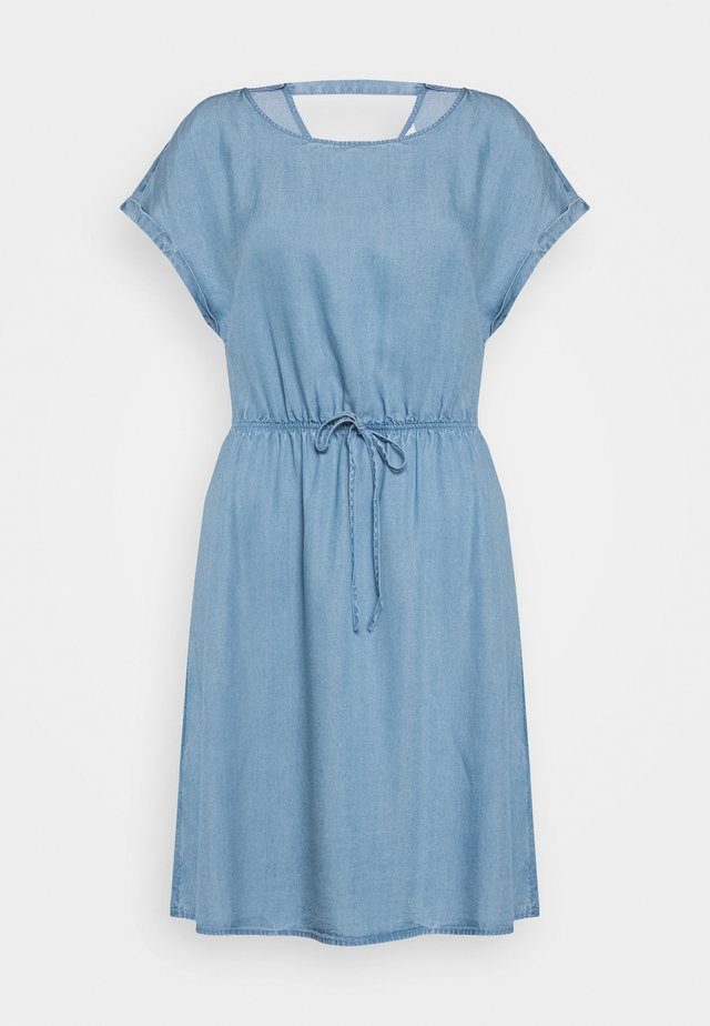 CHAMBRAY DRESS - Jerseykleid - light stone/bright blue denim