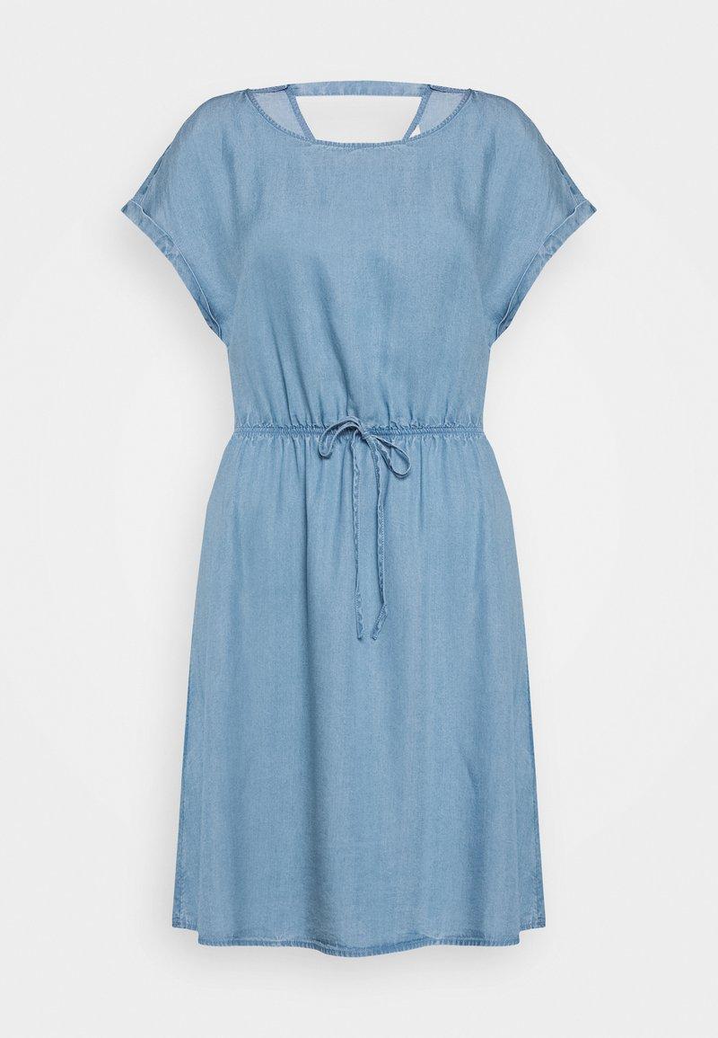 TOM TAILOR DENIM - CHAMBRAY DRESS - Jersey dress - light stone/bright blue denim