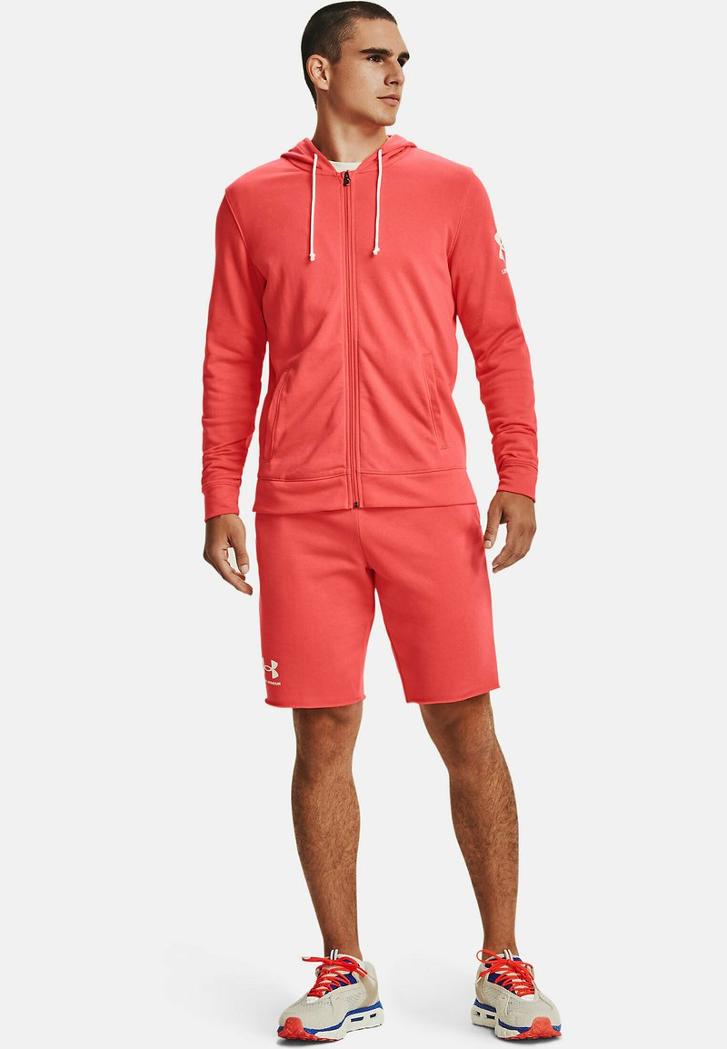 Under Armour - RIVAL TERRY - Sweater met rits -  red
