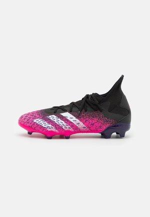 PREDATOR FREAK .3 FG - Moulded stud football boots - core black/footwear white/shock pink