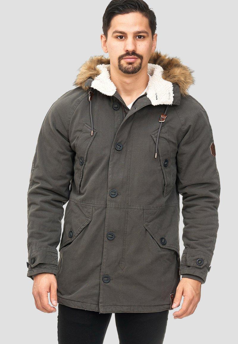 INDICODE JEANS - Winter coat - anthracite