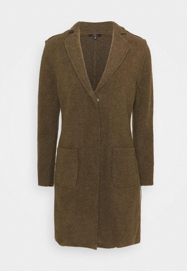 Classic coat - dusky green