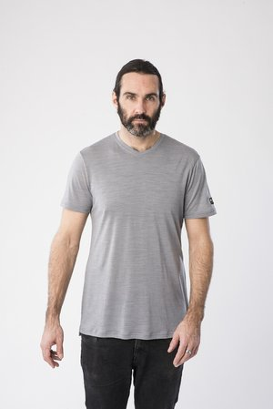 ASHER - Basic T-shirt - silver