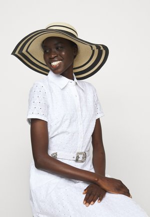 STRIPE SUNHAT - Hat - natural/black