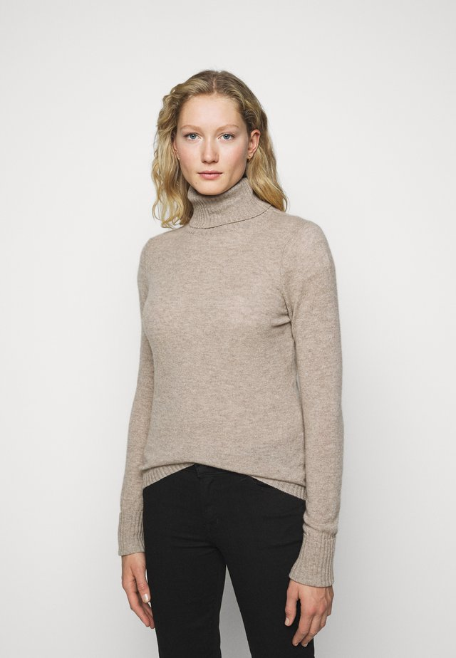 ROLLNECK - Strikkegenser - natural sand