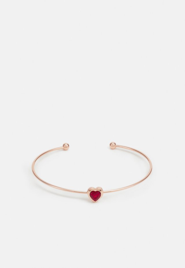 HASINA HEART ULTRA FINE CUFF - Armband - rose gold-coloured