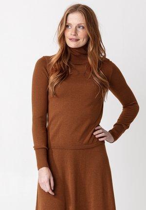 Sweatshirt - cognac